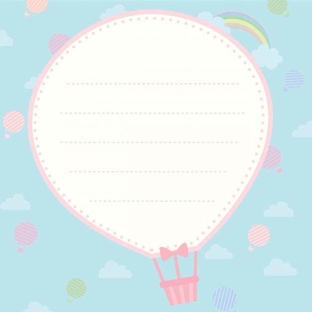 Modelo de balão Vetor Premium