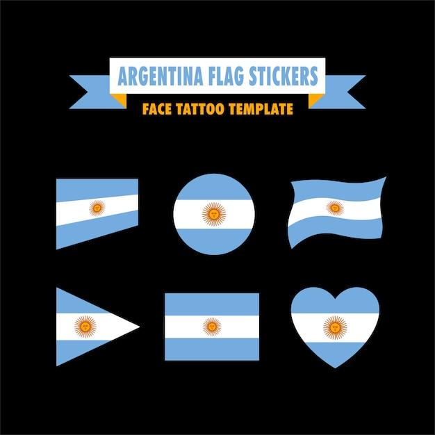 Modelo De Bandeira Da Argentina Baixar Vetores Premium