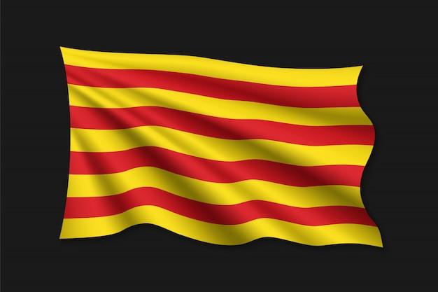Modelo de bandeira da catalunha Vetor Premium