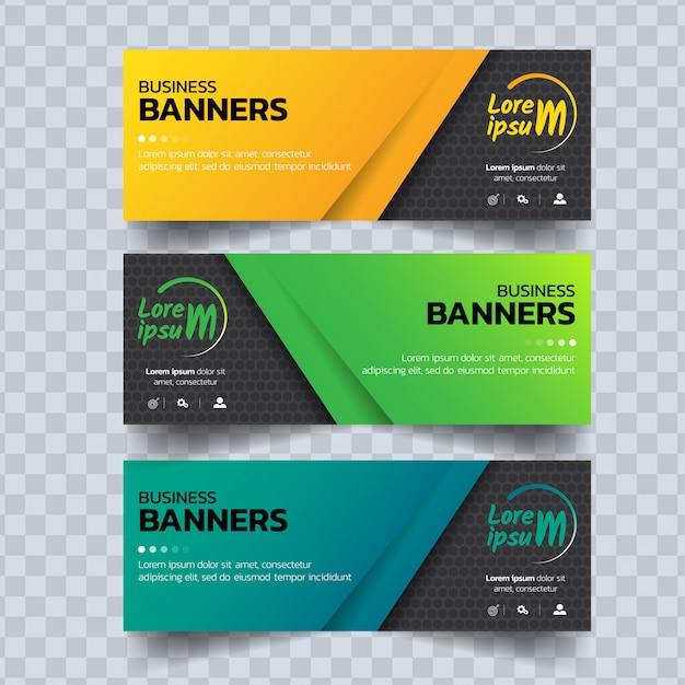 Modelo de bandeiras coloridas abstratas Vetor Premium
