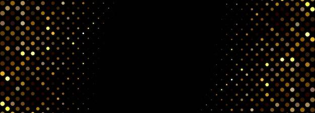 Modelo de banner abstrato partículas brilhantes Vetor grátis