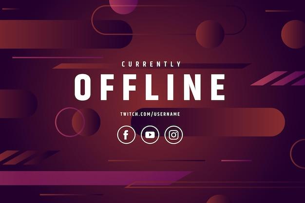 Modelo de banner abstrato twitch offline Vetor grátis