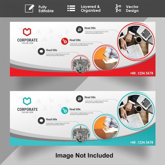 Modelo de banner abstrato Vetor Premium