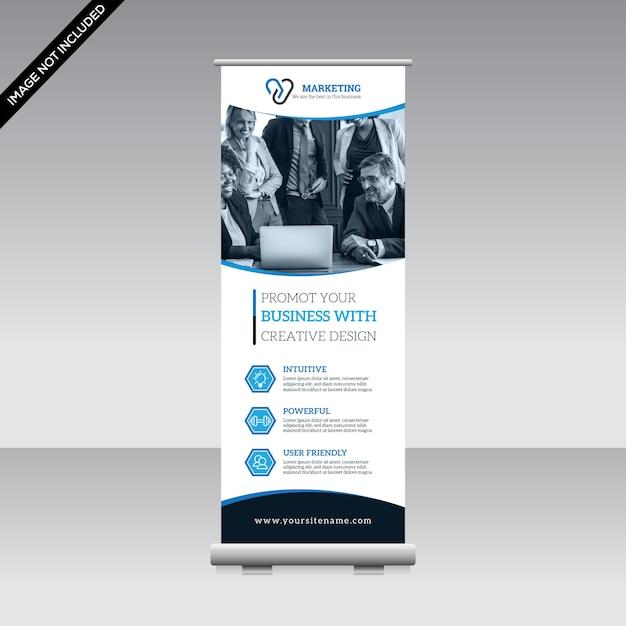 Modelo de banner arregaçar corporativo Vetor Premium