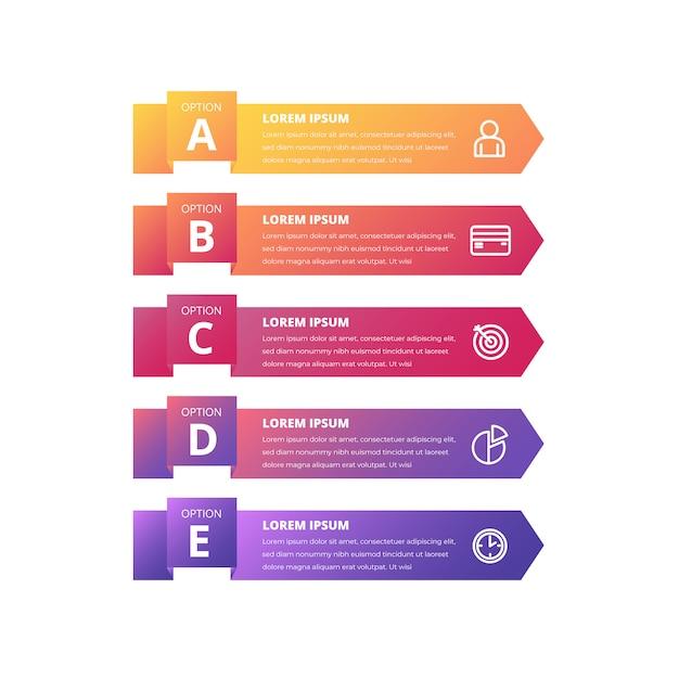 Modelo de banner colorido infográfico gradiente Vetor grátis