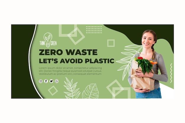 Modelo de banner com desperdício zero Vetor grátis