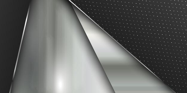 Modelo de banner com textura de metal escovada Vetor grátis