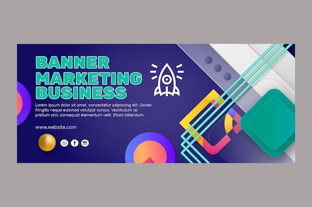 Modelo de banner comercial de marketing Vetor grátis