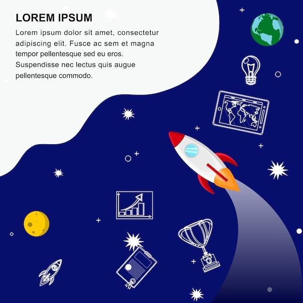 Modelo de banner da web de desenvolvimento de negócios globais Vetor Premium