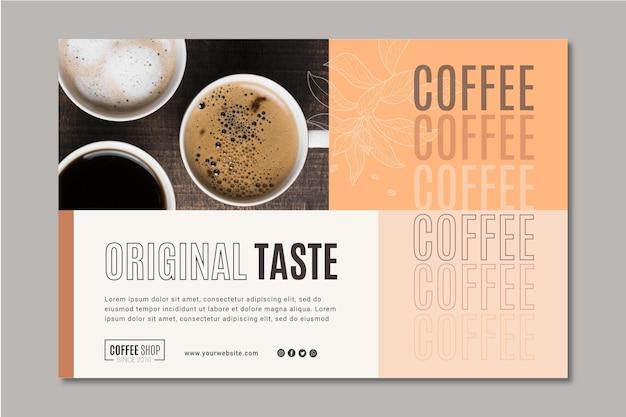 Modelo de banner de café Vetor grátis