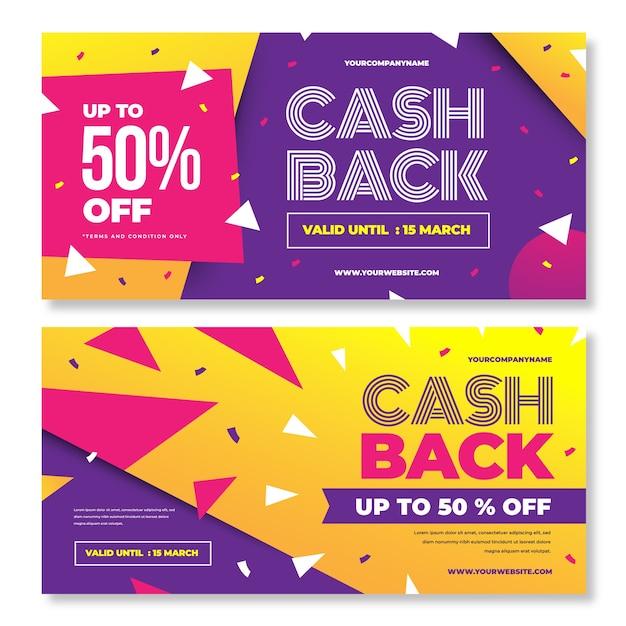 Modelo de banner de cashback Vetor grátis