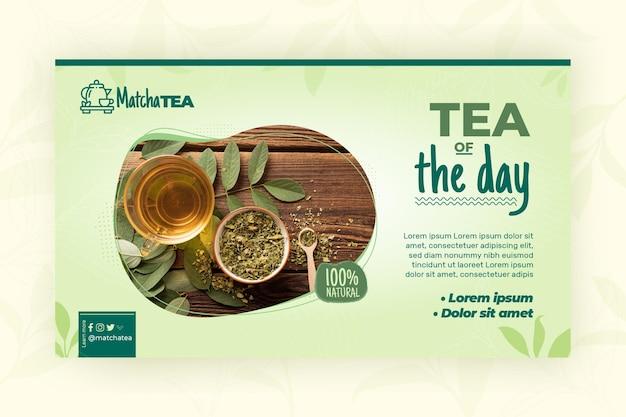Modelo de banner de chá matcha Vetor grátis