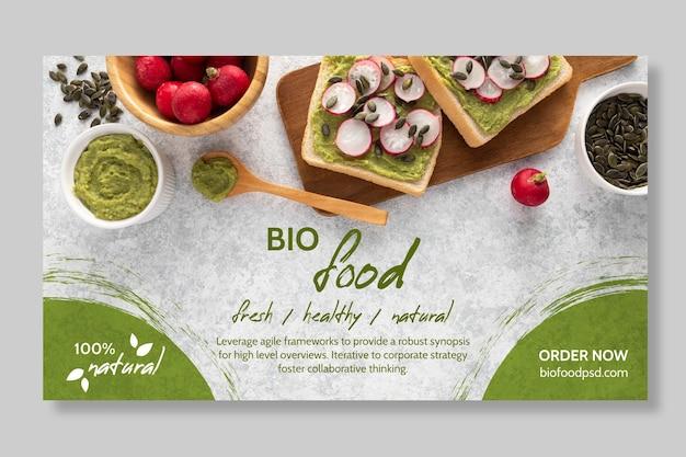 Modelo de banner de comida saudável Vetor grátis