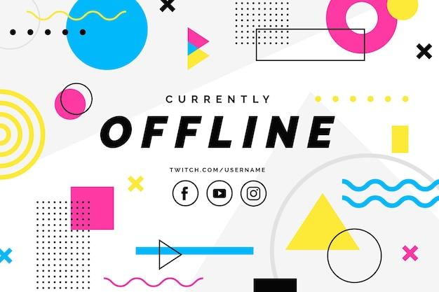 Modelo de banner de contração offline Vetor grátis