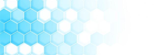 Modelo de banner de estrutura de molécula azul Vetor grátis