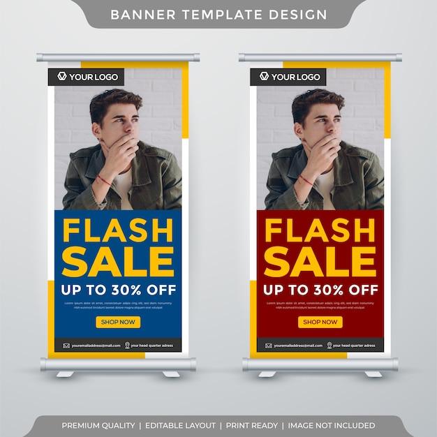 Modelo de banner de exibição de venda flash Vetor Premium