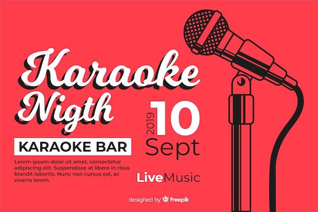 Modelo de banner de festa de karaoke criativo Vetor grátis