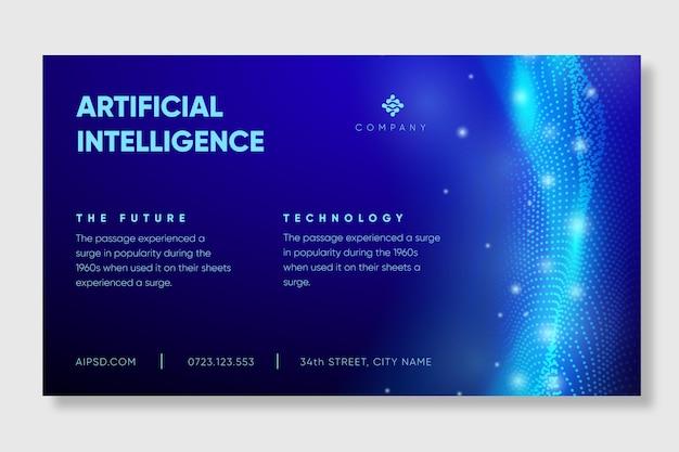 Modelo de banner de inteligência artificial Vetor grátis
