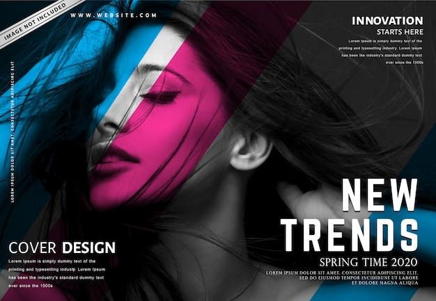 Modelo de banner de moda Vetor Premium