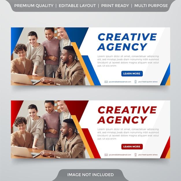 Modelo de banner de negócios estilo premium Vetor Premium