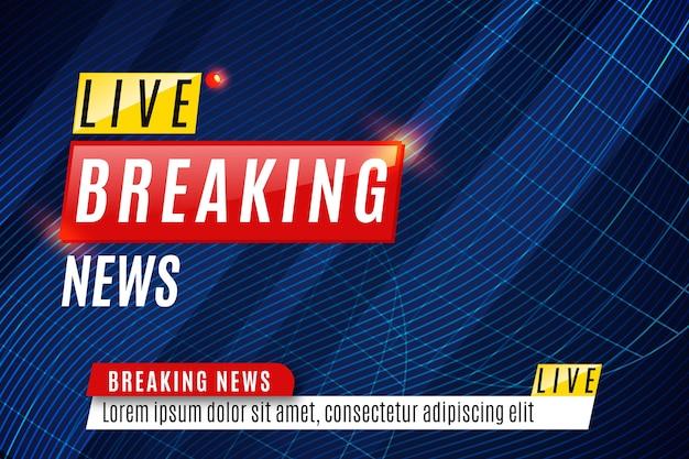 Modelo de banner de notícias de última hora Vetor grátis