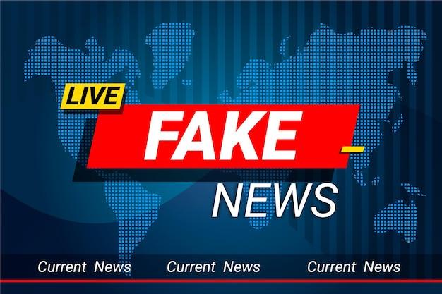 Modelo de banner de notícias falsas ao vivo Vetor grátis