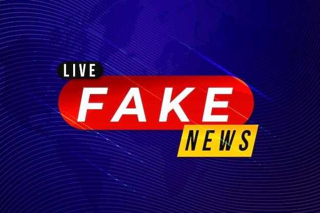Modelo de banner de notícias falsas Vetor grátis