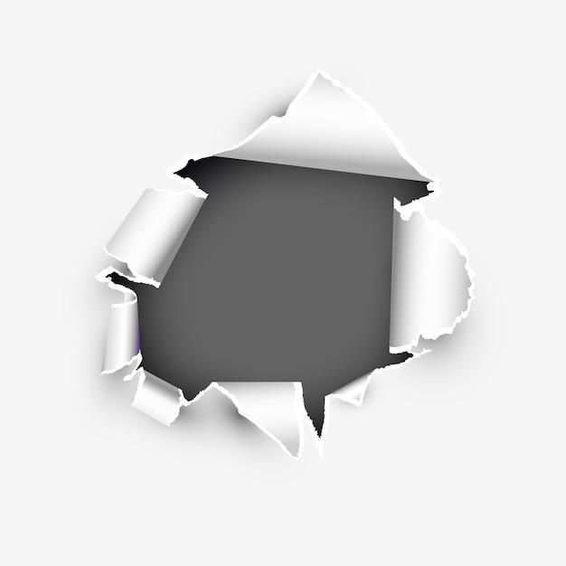 Modelo de banner de página rasgada com copyspase Vetor Premium