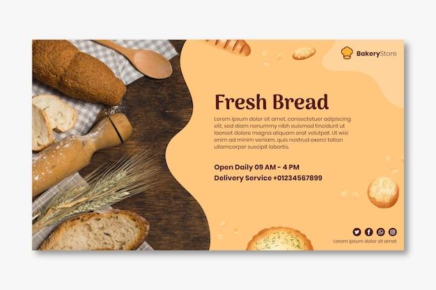 Modelo de banner de pão Vetor Premium