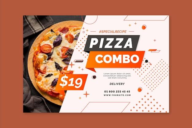 Modelo de banner de pizza Vetor grátis