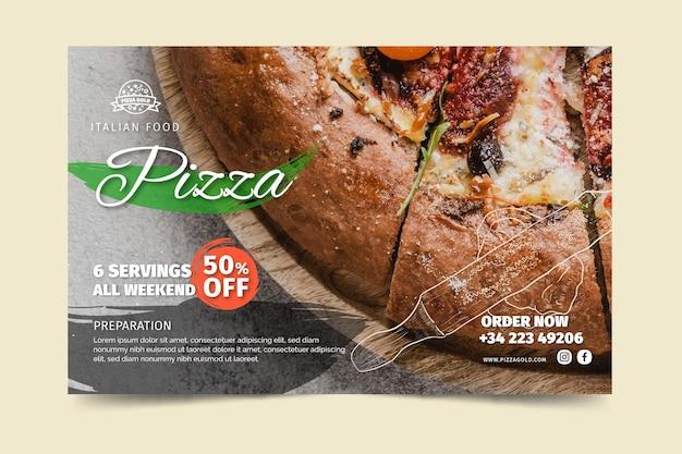 Modelo de banner de pizzaria Vetor grátis