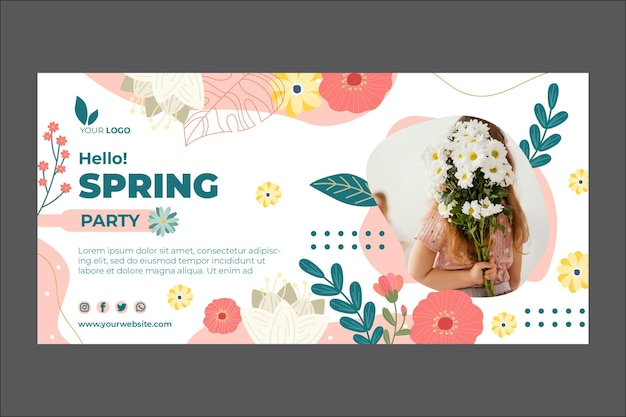 Modelo de banner de primavera Vetor grátis