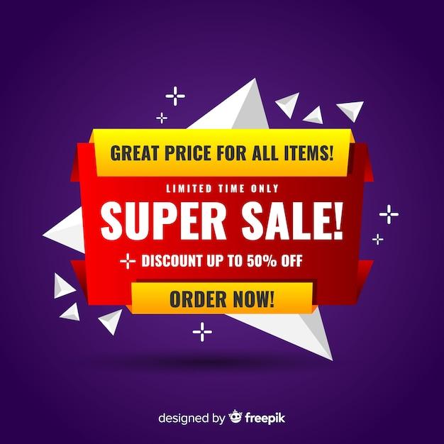 Modelo de banner de promoção de venda abstrata Vetor grátis