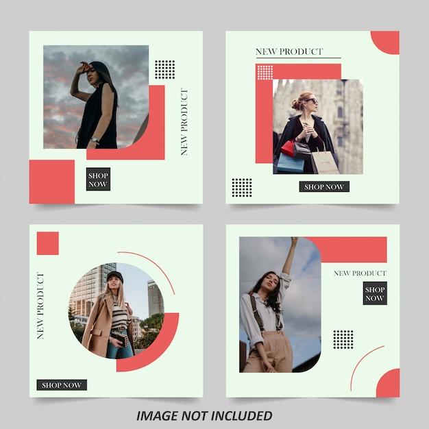 Modelo de banner de venda de moda minimalista Vetor Premium