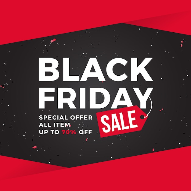 Modelo de banner de venda de sexta-feira negra Vetor Premium