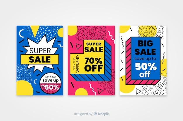 Modelo de banner de venda, oferta de desconto mega deal Vetor grátis