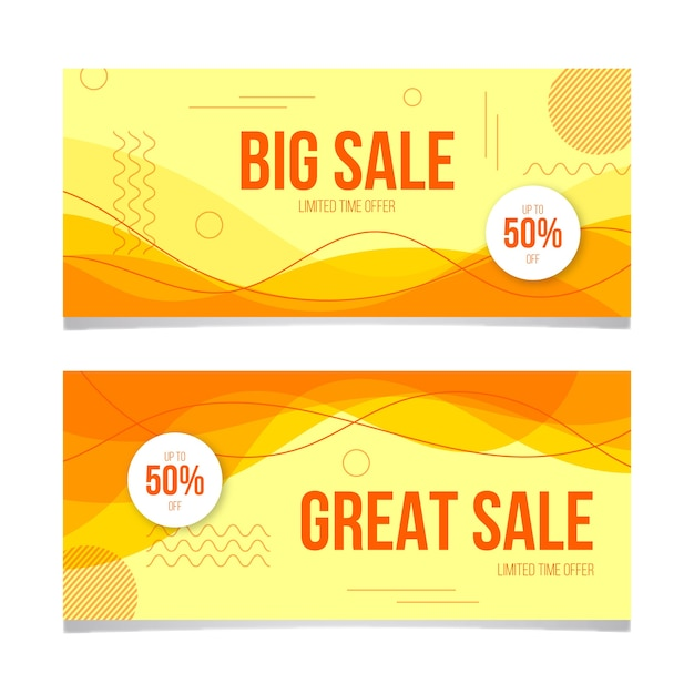 Modelo de banner de vendas colorido abstrato Vetor grátis
