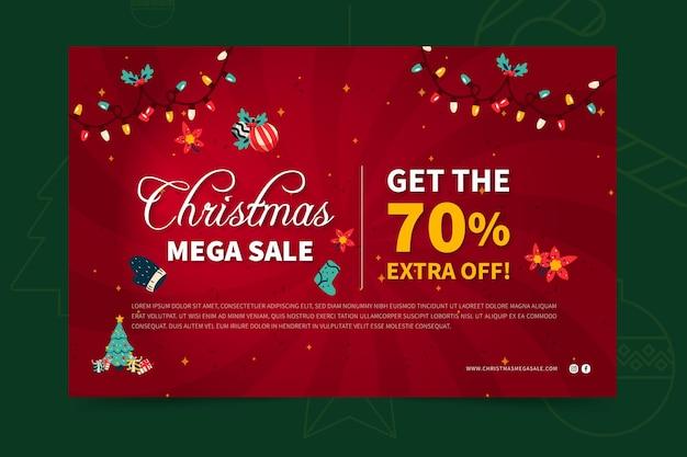 Modelo de banner de vendas de feliz natal Vetor grátis
