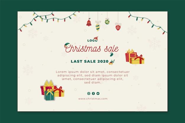 Modelo de banner de vendas de natal Vetor grátis