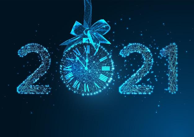 Modelo de banner digital da web de feliz ano novo Vetor Premium