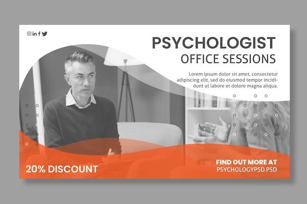 Modelo de banner do escritório de psicologia Vetor grátis