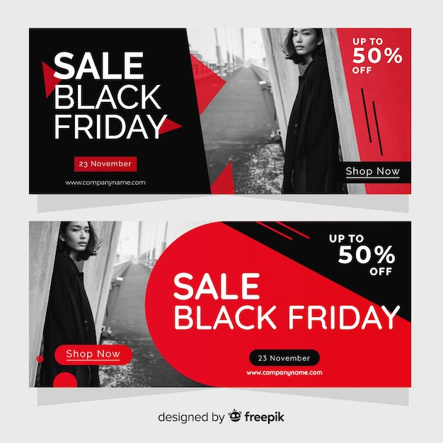 Modelo de banner do site de sexta-feira negra Vetor grátis