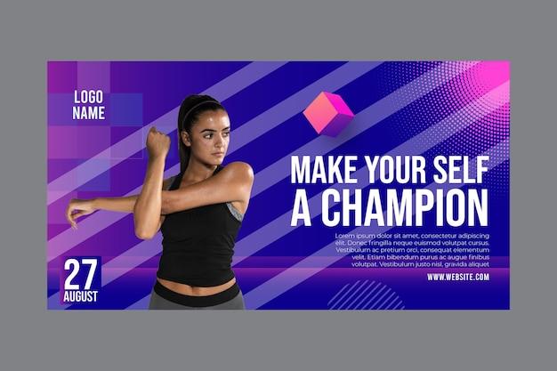 Modelo de banner para atividade de fitness Vetor grátis