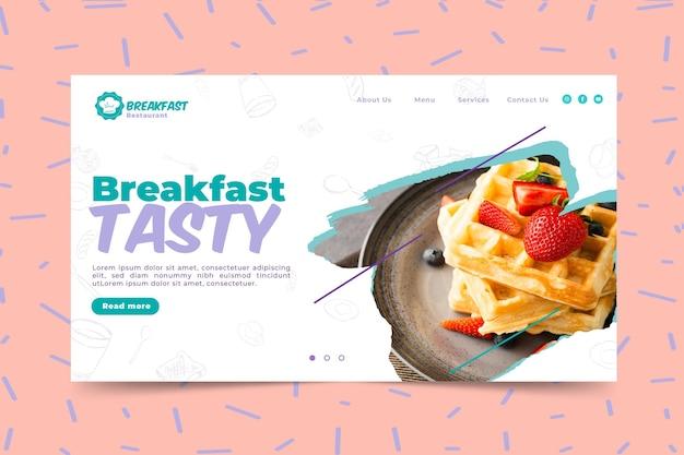 Modelo de banner para café da manhã saboroso Vetor grátis