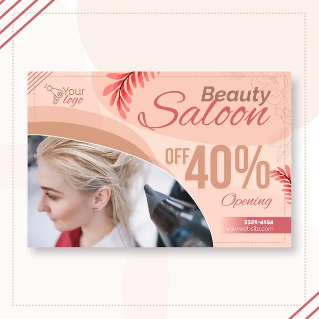 Modelo de banner para salão de beleza Vetor grátis