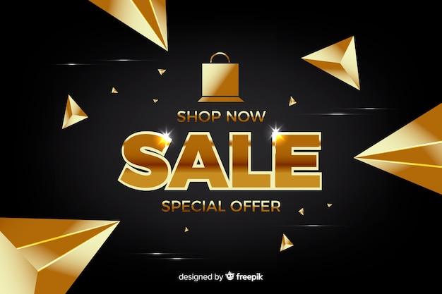 Modelo de banner promocional de vendas de ouro Vetor grátis