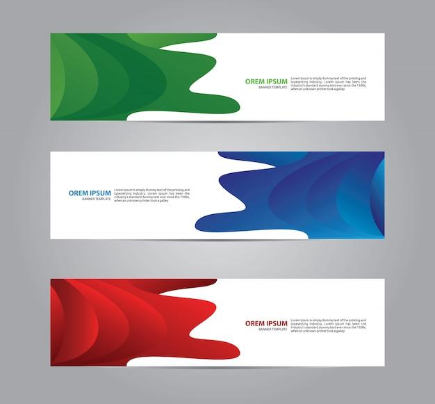 Modelo de banner web moderna e abstrata geométrica. Vetor Premium
