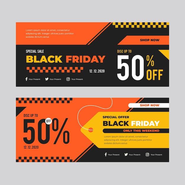 Modelo de banners de sexta-feira negra Vetor grátis