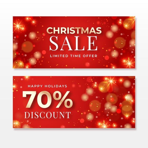Modelo de banners de venda de natal turva Vetor grátis