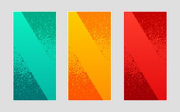 Modelo de banners verticais onduladas elegante fundo na moda criativa abstrata Vetor Premium